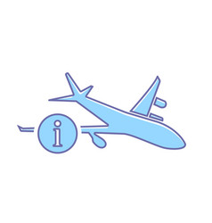 airplane flight information plane transport travel vector image