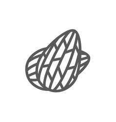 almond nuts line icon vector image