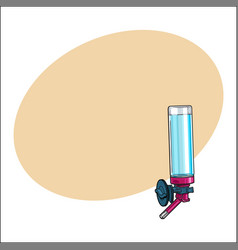 automatic refillable drinker can be attached to vector image