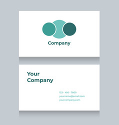 Business card template with white solid background vector