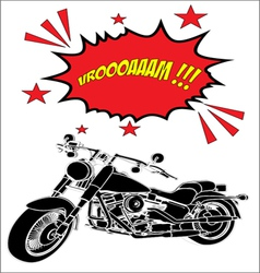 chopper motorcycle silhouette vector image vector image