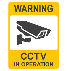 Closed circuit television signs cctv vector