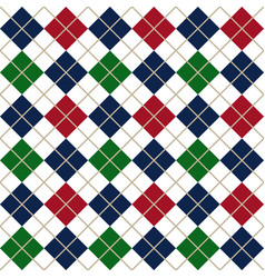 colorful argyle harlequin seamless pattern vector image
