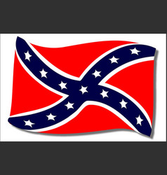 confederate flag waving vector image