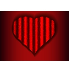 Corrugated web of a heart on a red background vector