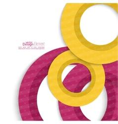 Creative abstract circle pattern vector