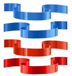 decoration ribbons vector image