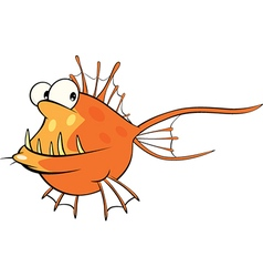 Deep-water fish Monkfish Cartoon vector image