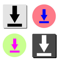 downloading flat icon vector image