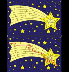 easy shooting star maze vector image vector image