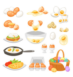 Egg easter food and healthy eggwhite or vector