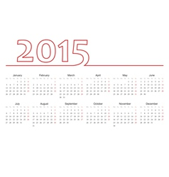 European 2015 year calendar vector image