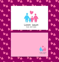 family love logo template vector image
