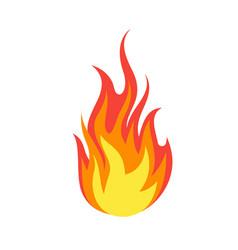 fire emoji simple light creative dangerous energy vector image