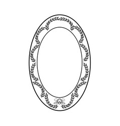 frame oval card vector image