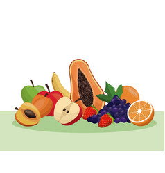 Fruit healthy food nutrition vector