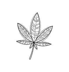 Ganja Zentangle For Coloring vector image