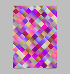 gradient abstract diagonal square pattern page vector image