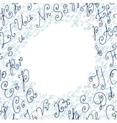 hand drawn circle background or frame vector image