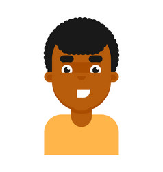happy facial expression of black boy avatar vector image