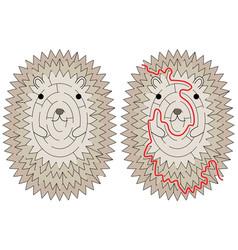 Hedgehog maze vector