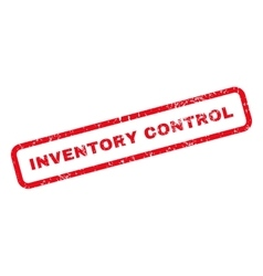Inventory Control Text Rubber Stamp vector