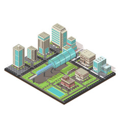 isometric cityscape concept vector image