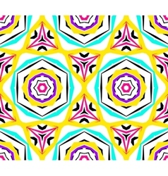 Kaleidoscopic Geometric Flower Pattern vector image