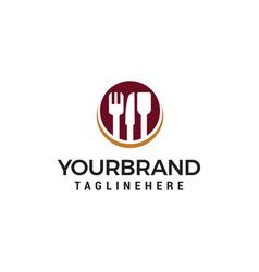 Knife cutlery logo design concept template vector