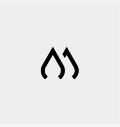 Letter aj mj m monogram logo design minimal icon vector