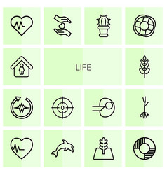 Life icons vector
