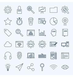 Line Web Development Icons vector image