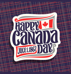 logo for canada day vector image