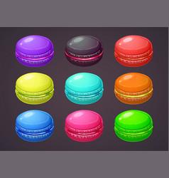 macaron cartoon colorful macaroons vector image