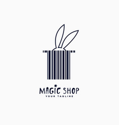 magic shop logo vector image