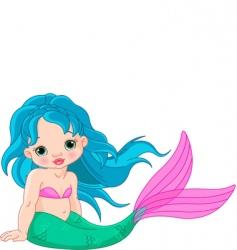 mermaid baby girl vector image
