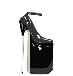 Modern Art Tribute to Womens shoes vector