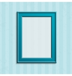 Modern blue photo frame vector image