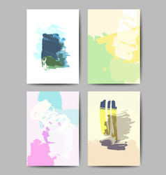 modern brush postcard template vector image