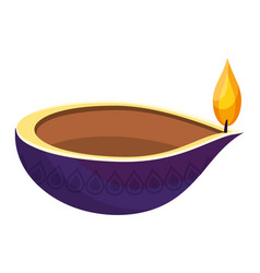 Oil aromateraphy candle vector
