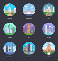 Pack of world cities 5 vector