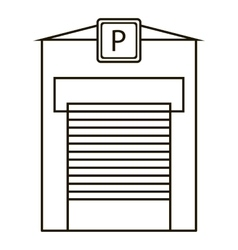 Parking garage icon outline style vector image
