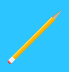 pencil flat isolated vector image