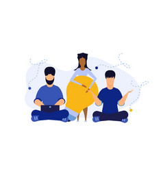 People health wellness relax business background vector