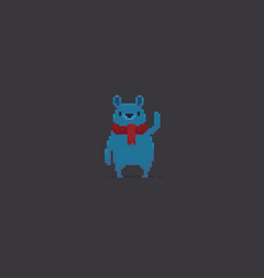 Pixel art bear vector