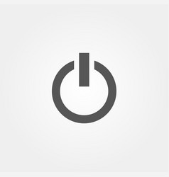 power icon in flat style grey color vector image