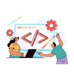 programming language coding php developer software vector image