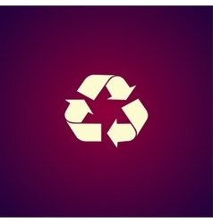 Recycle sign in white color - isolated vector image