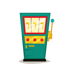 retro slot machine winning the jackpot vector image