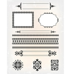 set of abstract frame pattern vector image